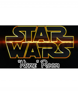 Star Wars 2 Bedroom Sign