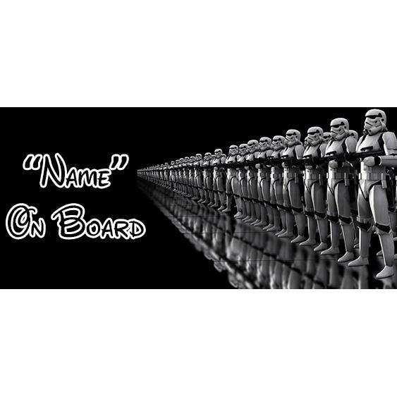 Star Wars 8 On Board Car Sign