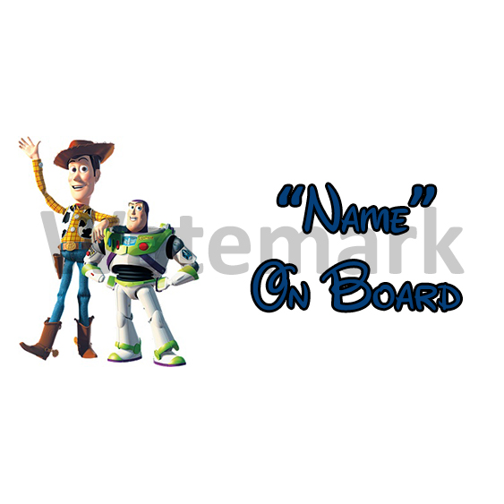 Toy Story 3 On Board Car Sign
