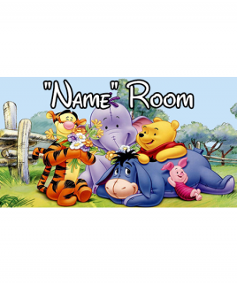 Winnie the Pooh 2 Bedroom Sign