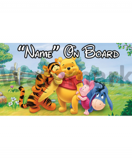 Winnie the Pooh 5 On Board Car Sign