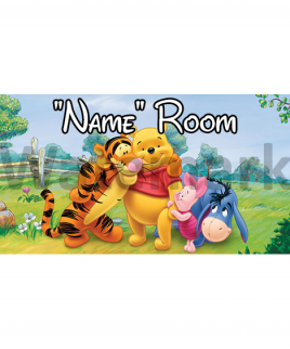 Winnie the Pooh 5 Bedroom Sign