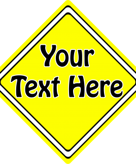 Create Your Own Sign Yellow