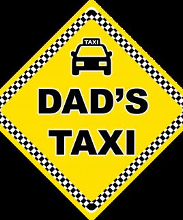 Dad's Taxi 2 Car Sign