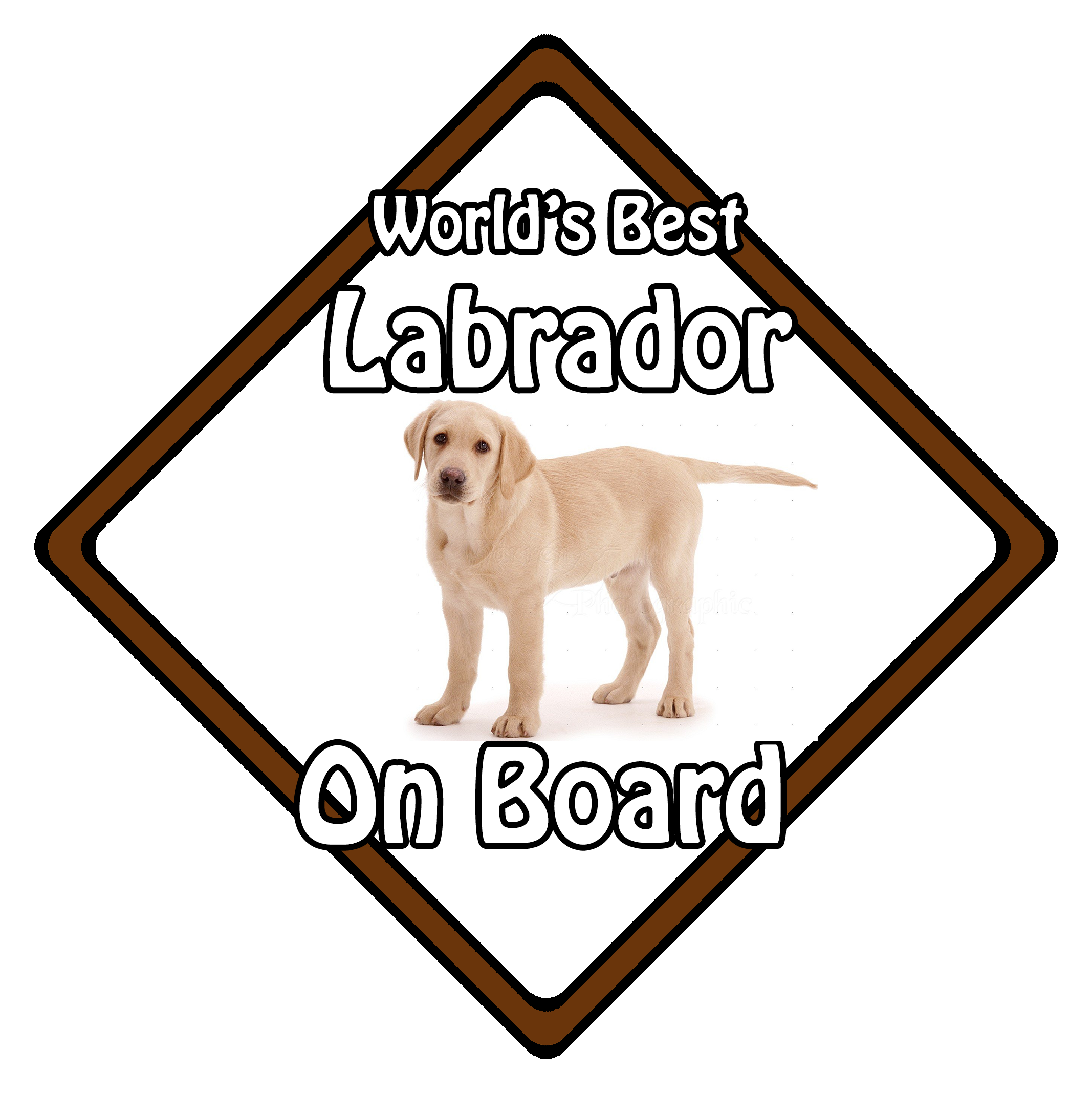 Worlds Best Labrador Blonde On Board Car Sign