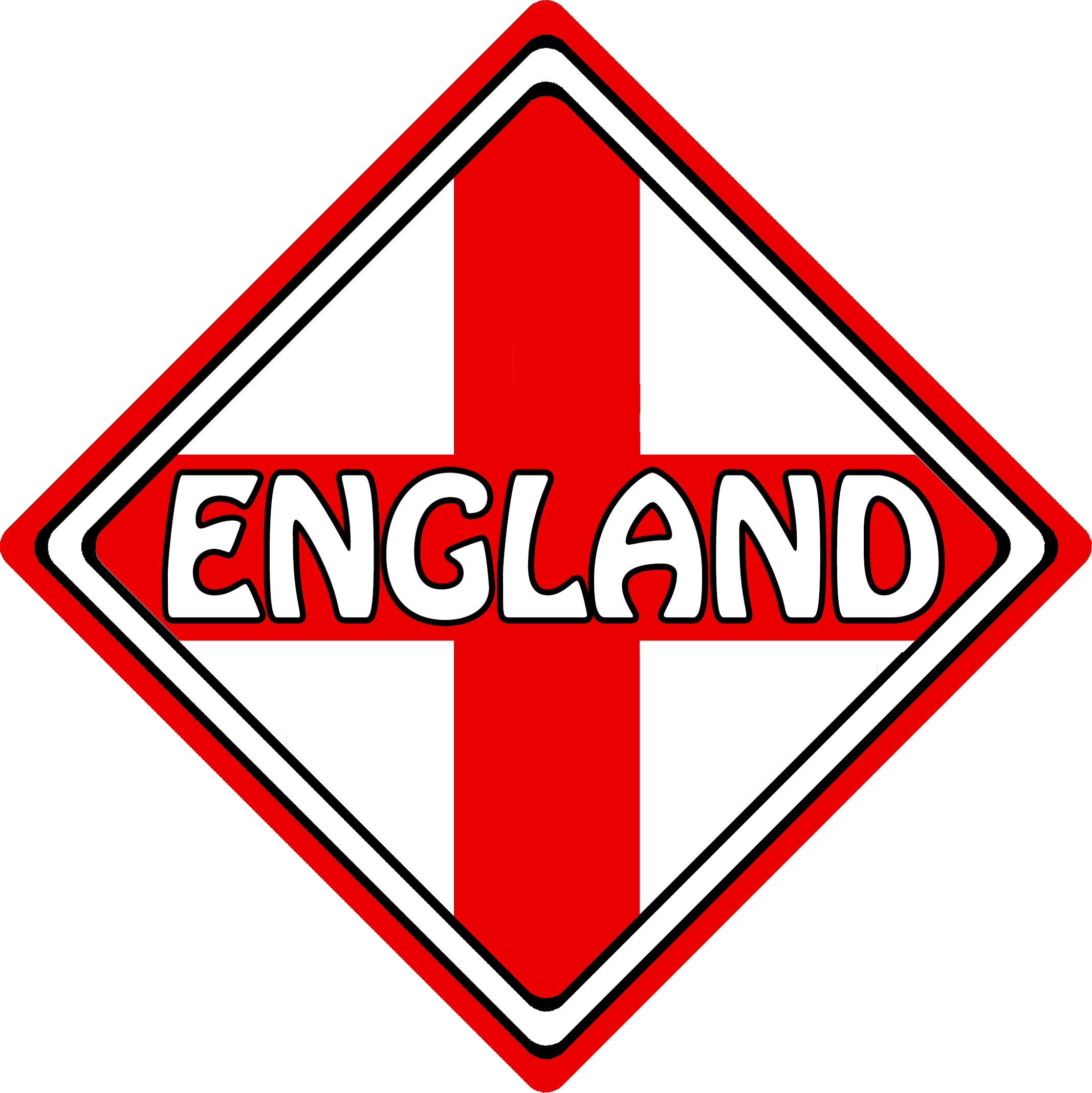England car sign