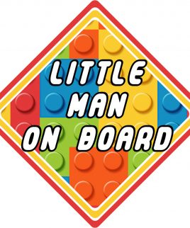 Lego Little Man On Board Car Sign