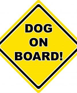Dog On Board Car Sign