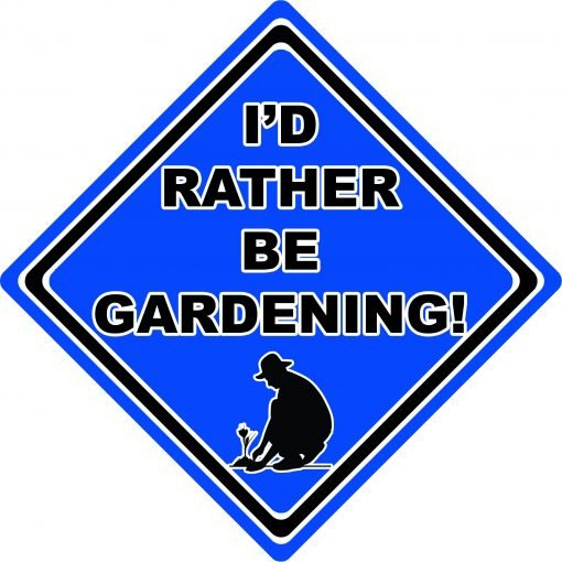 Id Rather be Gardening Man Blue