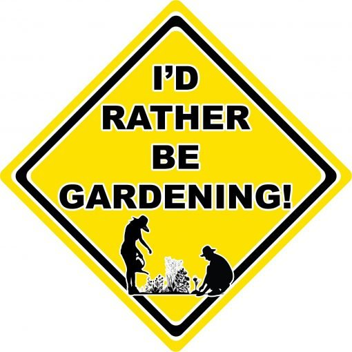 Id Rather be Gardening Man and Woman