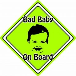 Non Personalised Child//Baby On Board Car Sign ~ Little Princes On Board ~ L.Blue