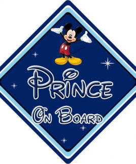 Baby On Board Car Sign Disney Pixar Mickey Mouse