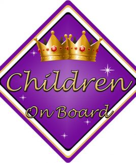 Child Baby On Board Car Sign Children On Board Purple