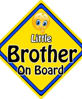 Child Baby On Board Emoji Car Sign Little Brother On Board