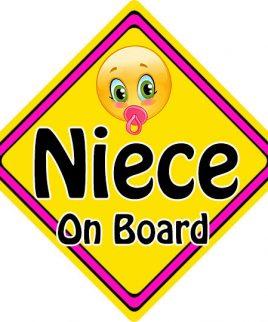 Child Baby On Board Emoji Car Sign Niece On Board