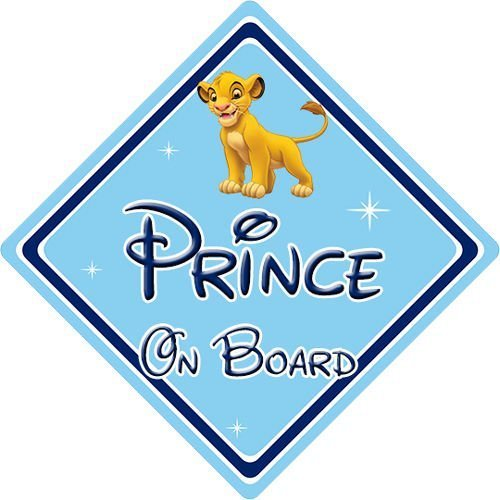 1 Disney Lion King Personalised Baby On Board Car Sign