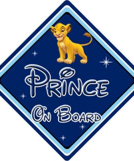 Baby On Board Car Sign Disney Pixar Lion King Simba
