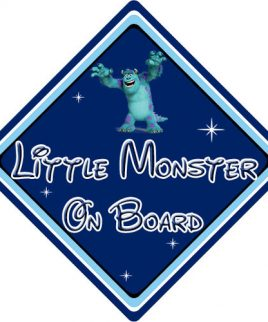 Baby On Board Car Sign Disney Pixar Monsters Inc Sully