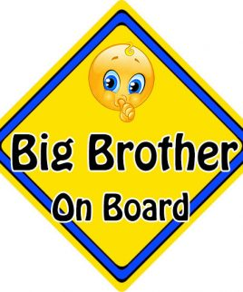 Child Baby On Board Emoji Car Sign Big Brother On Board