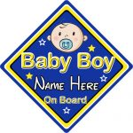 Personalised Child/Baby On Board Car Sign ~ Baby Boy On Board ~ Blue