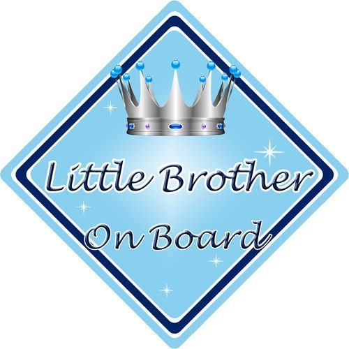 Personalised Baby On Board Car Sign Little Brother New!