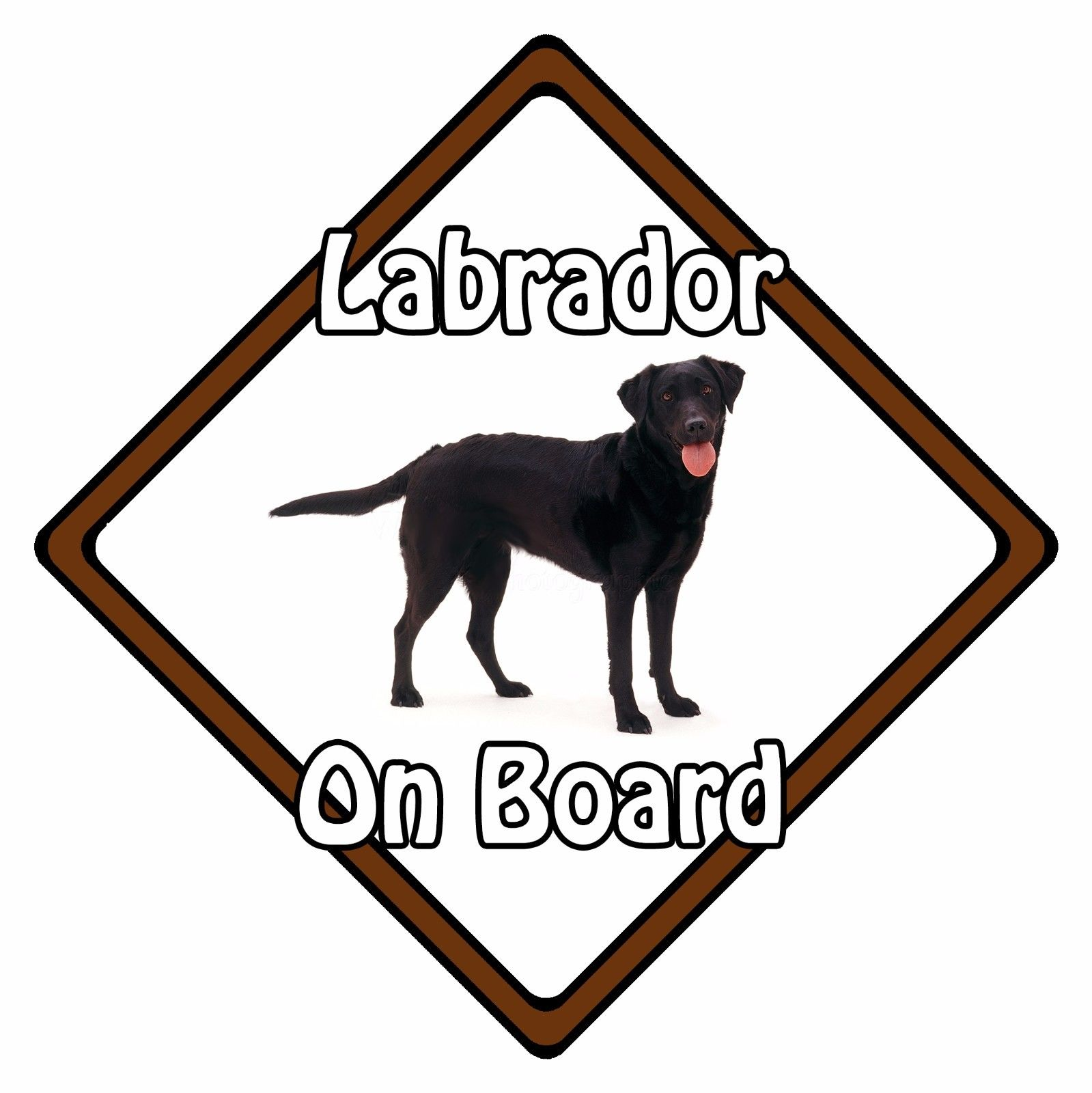 859675ec9545 Non Personalised Dog On Board Car Safety Sign - Labrador On Board ...