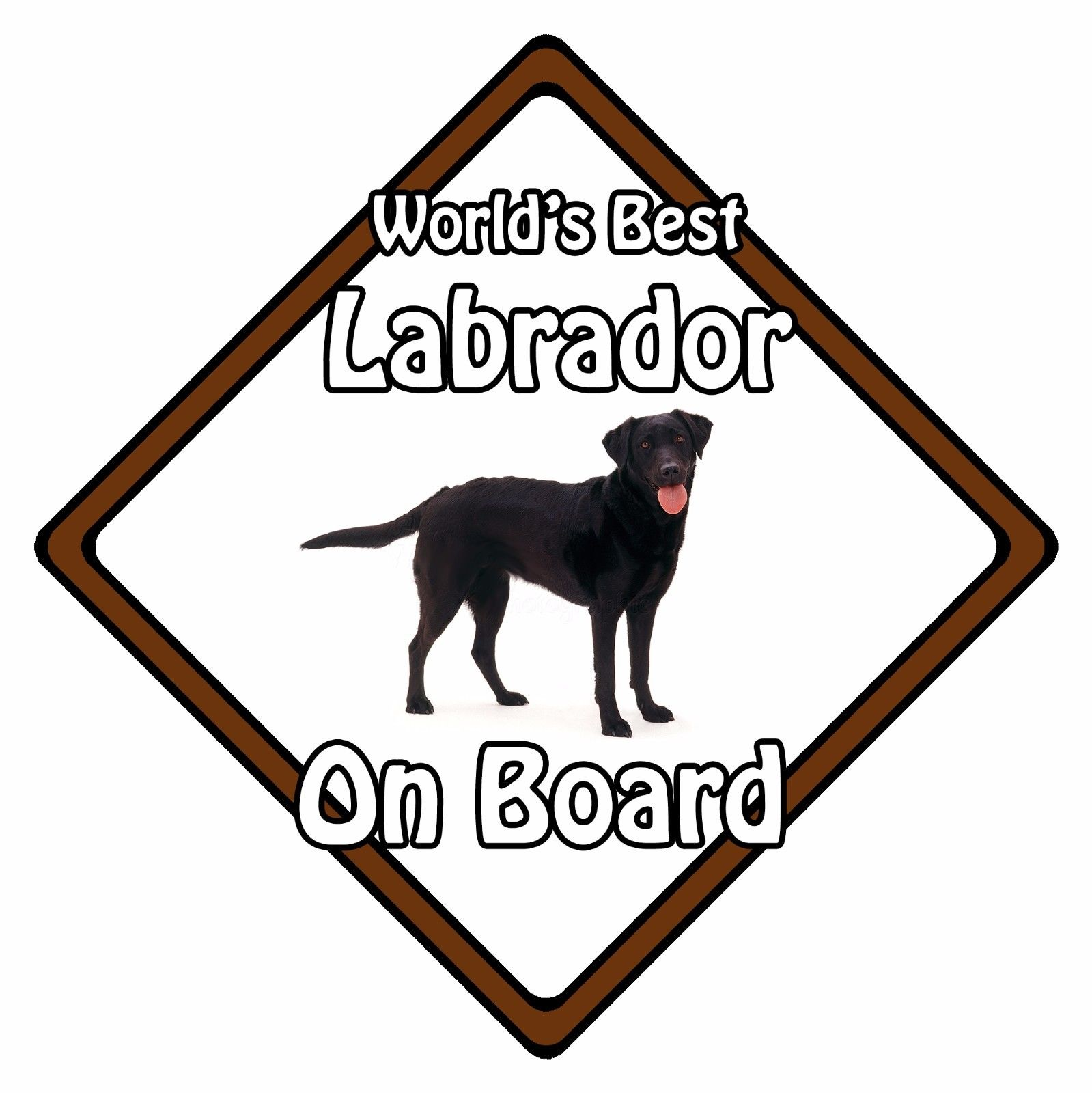 021a09fc8a9a Non Personalised Dog On Board Car Safety Sign World S Best