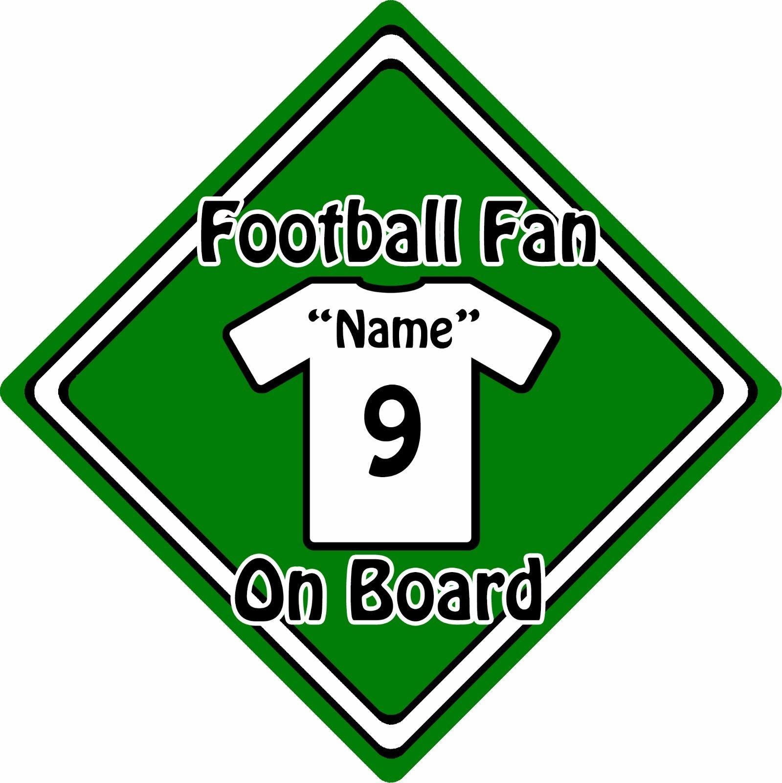Personalised-Football-Fan-On-Board-Car-Sign-Baby-On-Board-Shirt-Green-152396105912