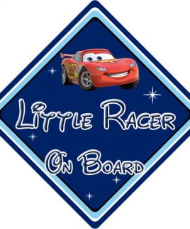 Baby On Board Car Sign Disney Pixar Cars Lightening McQueen