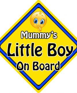 Child Baby On Board Emoji Car Sign Mummys Little Boy On Board