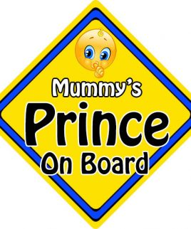 Child Baby On Board Emoji Car Sign Mummys Prince On Board