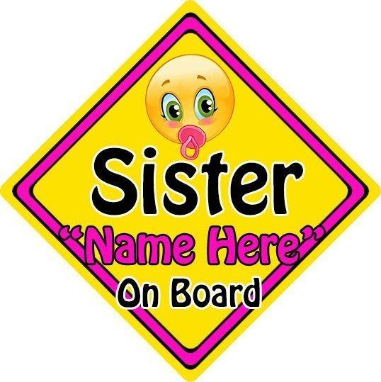 Personalised-ChildBaby-On-Board-Emoji-Car-Sign-Sister-On-Board-152397170213