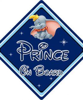 Baby On Board Car Sign Disney Pixar Dumbo