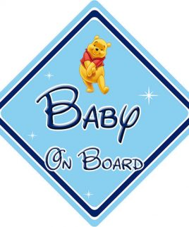 Baby Badger on Board Car Sign Boy or Girl Childrens Non Personalised Animal Theme Baby on Board