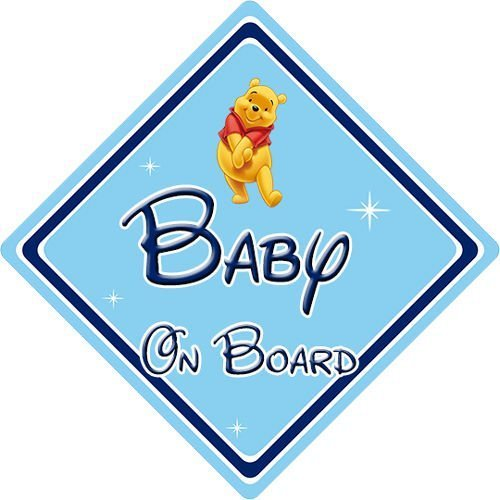 Disney Baby On Board Car Sign Winnie The Pooh Car Signs Direct - Car signs
