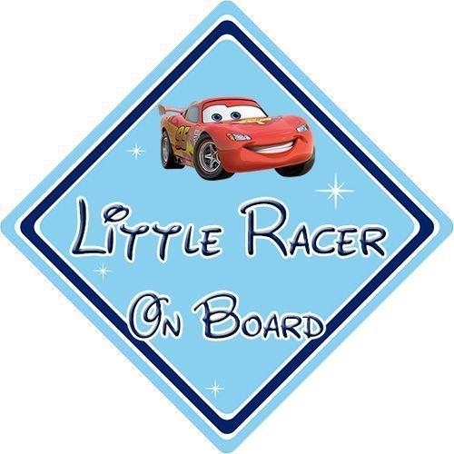 Little Racer On Board Car Sign - Baby On Board - Disney Cars Lightening  Mcqueen