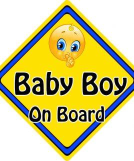 Child Baby On Board Emoji Car Sign Baby Boy On Board