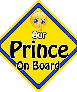 Child Baby On Board Emoji Car Sign Our Prince On Board
