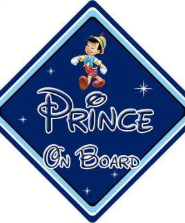 Baby On Board Car Sign Disney Pixar Pinocchio