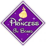 Disney Princess On Board Car Sign - Belle From Beauty & The Beast - Purple