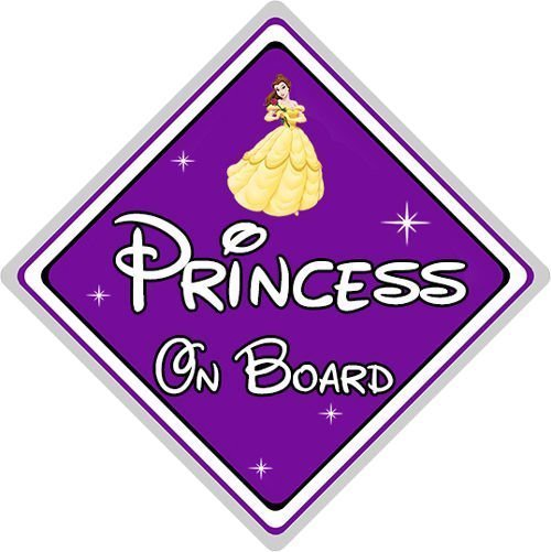 Disney-Princess-On-Board-Car-Sign-Belle-From-Beauty-The-Beast-Purple-152126218075
