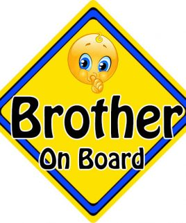 Child Baby On Board Emoji Car Sign Brother On Board