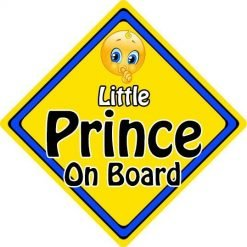 Personalised Child//Baby On Board Car Sign ~ Nana /& Grandads Prince ~ L.Blue