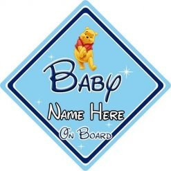 Non Personalised Child//Baby On Board Car Sign ~ Our Niece On Board ~ Pink