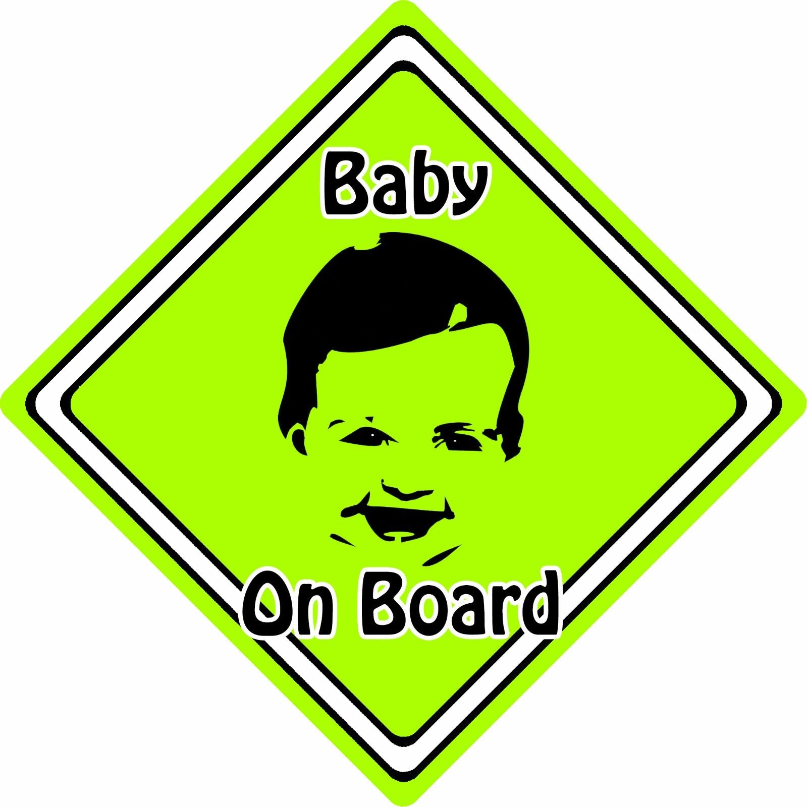 BabyChild-On-Board-Car-Sign-Baby-Face-Silhouette-Neon-Green-152405976366