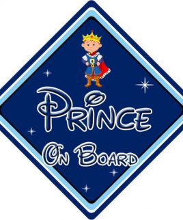 Baby On Board Car Sign Disney Pixar Prince On Board