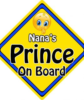 Child Baby On Board Emoji Car Sign Nanas Prince On Board