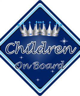 Child Baby On Board Car Sign Children On Board Dark Blue