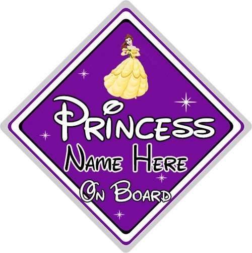 Yellow Belle Beauty /& Beast Personalised Disney Princess Bedroom Door Sign