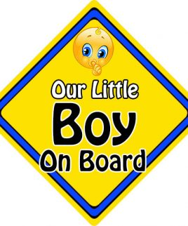 Child Baby On Board Emoji Car Sign Our Little Boy On Board